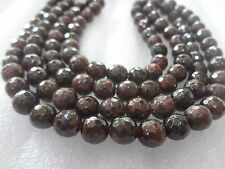Faceted Garnet Crystal Stone MALA 108+1 BEADS 8mm rosary