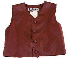 Jacadi Girl's Floni Bordo Button Up Vest Sz 4 Years Nwt $54