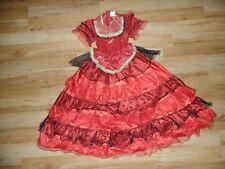 Fasching Karneval Kostüm Kinder Mädchen Kleid Spanierin Flamenco tänzerin Gr.128
