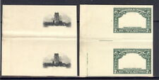 Panama 1915, 2.5c Ruins, PROOFS center+frame in GUTTER PAIRS, archival,RRR  #208