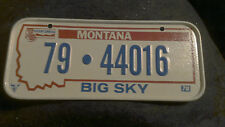 Vintage 1978 Cereal Mini Bicycle License Plate Montana EUC
