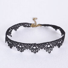 Hot Women's Black Lace FLOWER choker Collar necklace BLACK GOTHIC PUNK Jewelry H