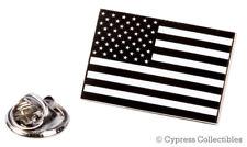 BLACK AMERICAN FLAG ENAMEL LAPEL PIN USA US United States TIE TACK BADGE NEW