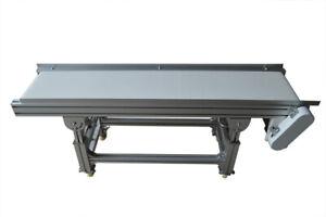 "Food Grade Conveyor-PU Belt Conveyor System 59""*11.8"" 0-20m/min Speed #230556"