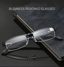 Spring Hinge Reading Glasses Readers Men Women Rectangular Metal Readers 1 2 3 4