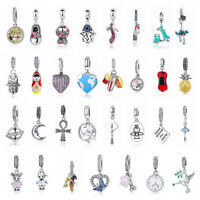 European Women Girls 925 Sterling Silver Charm Pendant Fit Bracelet And Necklace