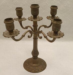 CF Alter Messing Kerzenhalter 4 flammig Kerzenleuchter Antik Rar Chandelier