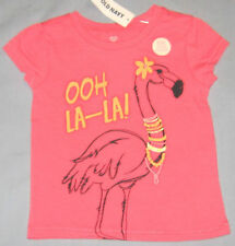 New OLD NAVY Size 6-12 Months Pink Ooh La-La! Short Sleeves Tops ~ Shirt