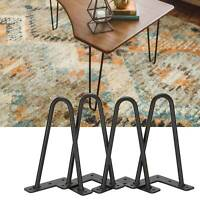 4 x Hairpin Legs / Hair Pin Legs Set for Furniture Bench Desk Table Coffee Table