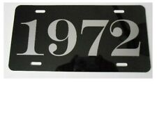 1972 YEAR METAL LICENSE PLATE IMPALA PLYMOUTH DODGE NOVA PONTIAC GTO MUSTANG