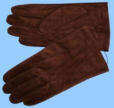 NEW MENS size 8.5 or Medium BROWN PIG SUEDE LEATHER UNLINED GLOVES shade10525