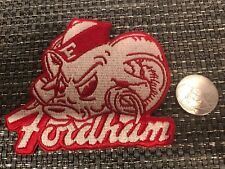 "FORDHAM UNIVERSITY Vintage Embroidered Iron On Patch 3.5"" x 3"""