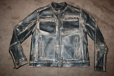 KENNETH COLE REACTION JACKET M MOTORCYCLE DISTRESSED UNIQUE HOT DEAL!