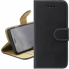 BLACK & TAN Leather Magnetic Flip Wallet Cover Case For APPLE iPhone 5C
