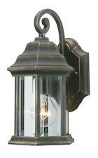 Rustic Barrel Wall Lantern- Orient Appearance- Black&Gold Hanging Light
