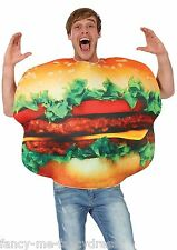 Mens Ladies Burger Food Festival Funny Stag Hen Do Fancy Dress Costume Outfit