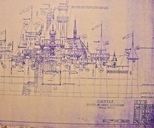"Disneyland Sleeping Beauty's Castle blueprint 24"" x 18"""