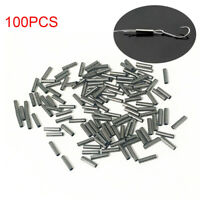100Pcs Single Copper Fishing Crimp Sleeves Tube Wire Leader Sleeve 1.0-3.0MM-`