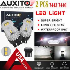 2X AUXITO 7443 7440 LED White Reverse Light Daytime Running light Backup Bulb EA