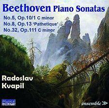 CD BEETHOVEN PIANO SONATAS 5 op.10/1 8 op.13 PATHETIQUE 32 op.111 KVAPIL