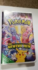 Pokemon the First Movie Mewtwo vs Mew VHS 2000 Clamshell
