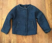 NAVY QUILTED JACKET BABYGAP GIRLS 3 YRS WINTER TOWIE XMAS PARTY SCHOOL CHELSEA
