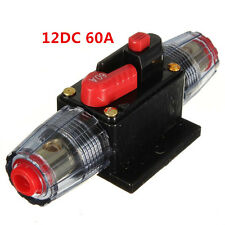 60A Car Audio Inline Circuit Breaker Fuse for System Protection 12VDC Waterproof