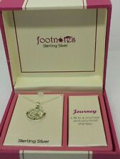 """Footnotes """"Journey"""" Sterling Silver Compass Pendant and Necklace NWT!"""