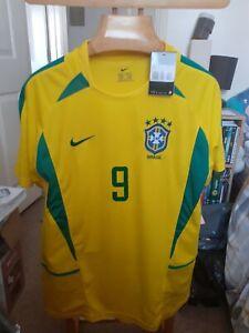 BRAZIL RONALDO  9  TAGGED FOOTBALL  SHIRT    SIZE  ADULTS 2XL