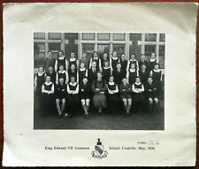 More details for king edward vii grammar school, coalville, form 3b school photograph may 1938