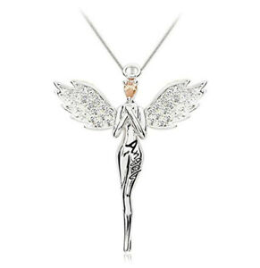 "Angel Blessing Collarbone Chain Angell Shape Pendant Necklace For Women ""16"""