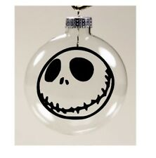 Jack Skellington Nightmare Before Christmas Ornament Glass Disc Holiday Horror