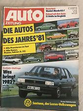 autozeitung 26/81: Mazda RX7, Fiat 127 Sport, VW Santana, Harley FRXS 80, Lotus