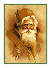 Victorian Father Christmas Santa Claus # 218 Counted Cross Stitch Chart Pattern