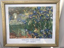 Vincent Van Gogh Flower Les Irises Wall Picture Framed Art Print