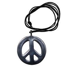 Peace Halskette Anhänger Hippie Surferkette Vintage Leder Kette Friedenssymbol