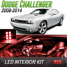 2008-2014 Dodge Challenger Red LED Lights Interior Kit
