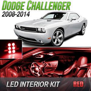 2008-2014 Dodge Challenger Red LED Lights Interior Kit