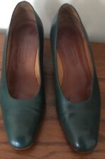 "COACH Women Leather Green pumps 3"" Heels Shoes Size 7M"