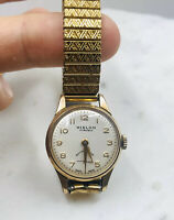WATCH VINTAGE HISLON 17 RUBIS MANUAL WIND GOLD TONE ANTIMAGNETIC LADIES