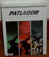 PATLABOR LA TRILOGIA ED.COLECCIONISTA BLU-RAY+EXTRAS+LIBRO NUEVO (SIN ABRIR) R2
