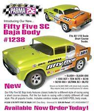 Parma 55 CHEVY FIFTY FIVE Clear UNPAINTED Body SHORT COURSE SLASH PAR1238