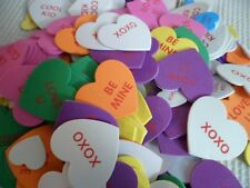 Conversation Foam Hearts w/Adhesive Back ~Kids Arts/Crafts Lot of 20 Easter Bday