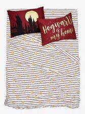 Harry Potter Hogwarts Crest Striped Microfiber Full Sheet & 2 Pillowcase Set