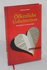 Manfred Kerler - Öffentliche Geheimnisse - Botschaften in Kleinanzeigen
