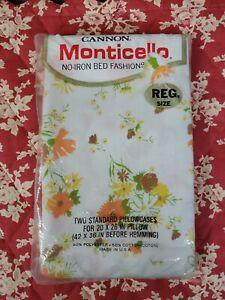 Cannon Monticello Pillowcases Floral Yellow,Orange,Green,Brown,White Standard