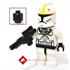 Lego Star Wars Clone Pilot minifigure with black head from set 7958