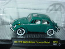 M2 MACHINES AUTO THENTICS 1967 67 VW BUG BEETLE DELUXE EURO MODEL -Teal, MIP