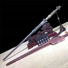 Crazy Lion Dragon Scales Expels Ghosts Single Whip Mace Solid Pattern Steel#1784
