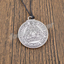 Talisman Solomon Seal Amulet Necklace Good Luck Pendant Silver Womne Men Jewelry